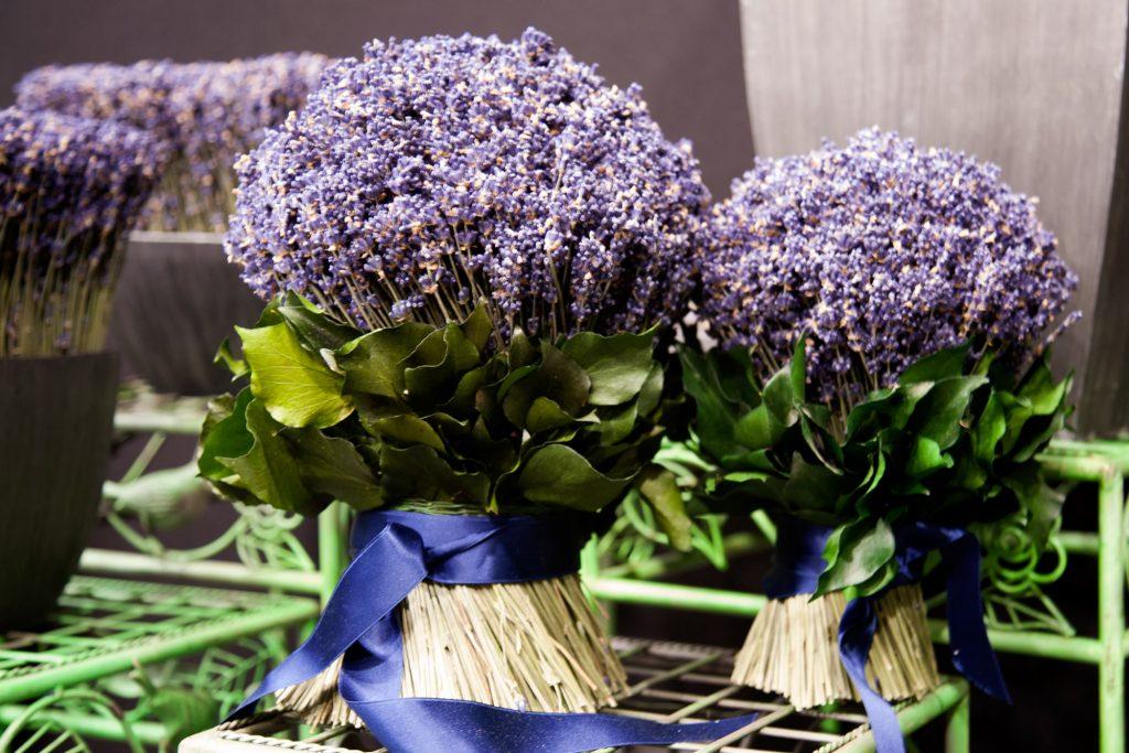 Bouquets de décoration en lavande