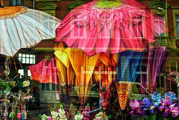 Decoration de parapluies fleurs pour femmes