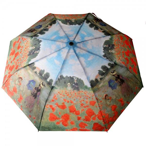 Parapluie avec motif de champ de coquelicot de Claude Monet