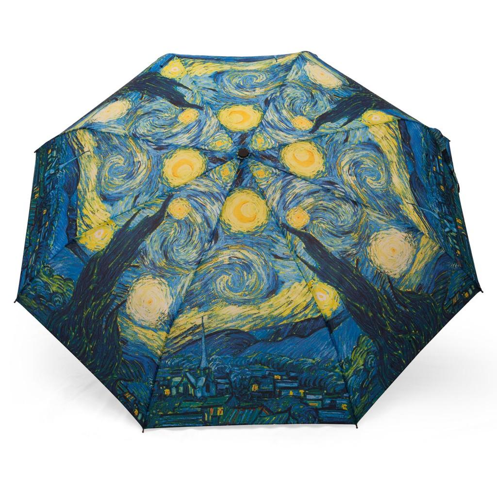 Parapluie automatique avec peinture de van Gogh, la nuit étoilée
