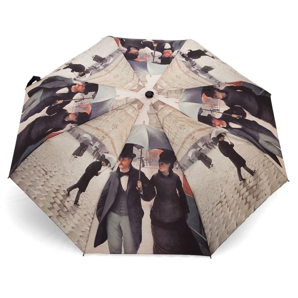 Parapluie rue de Paris, jour de pluie