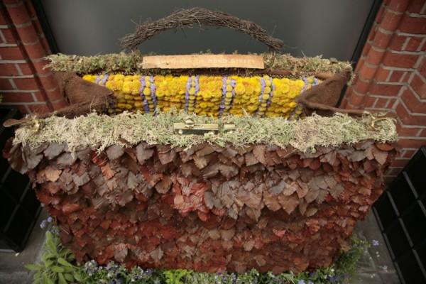 Sac de feuilles naturelles chez Smythson