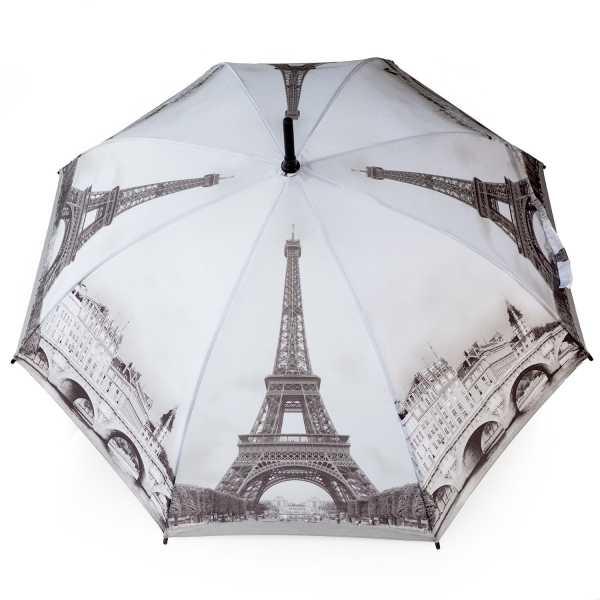 Parapluie droit avec motif de Paris