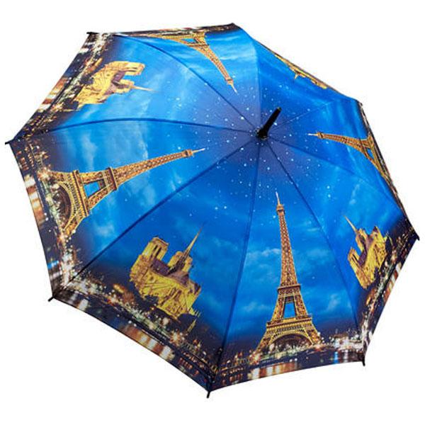 Parapluie motif Paris illuminé la nuit
