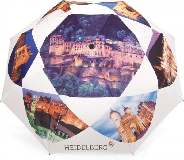 Parapluie droit avec motifs du château de Heidelberg