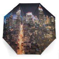 Parapluie droit imprimé avec motif de New York Manhattan la nuit