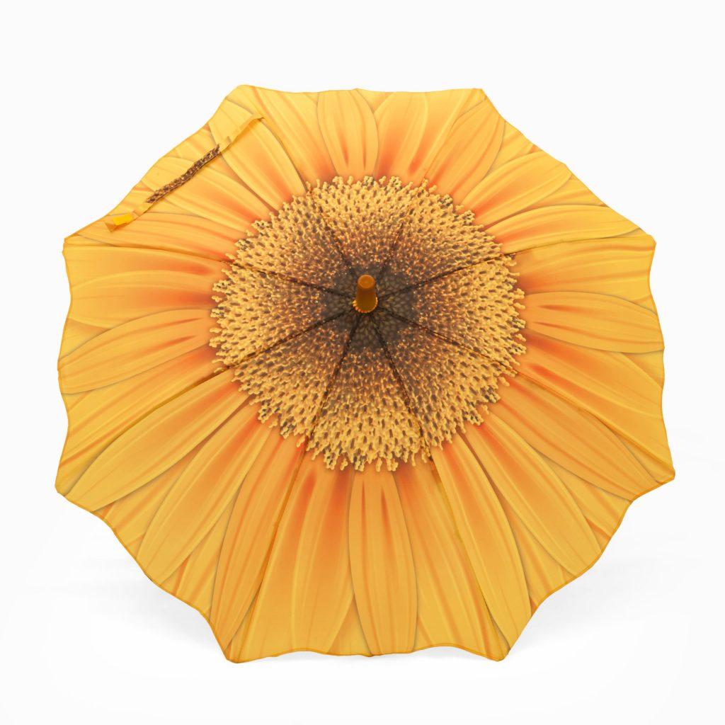 Parapluie pour filles avec motif tournesol